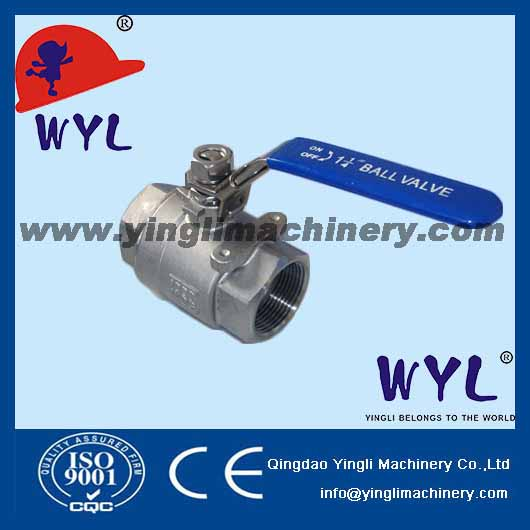 1pc high mounting pad screwed ball valve